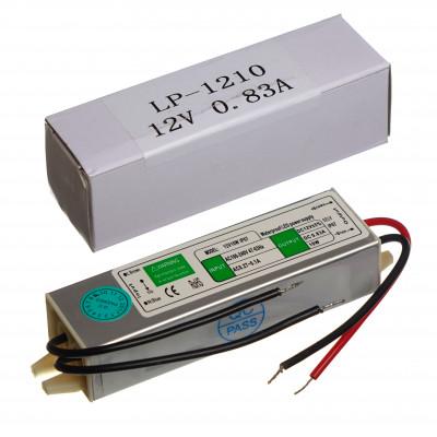 Блок питания для светодиодной ленты  LP1210 12V 0,83A 10W