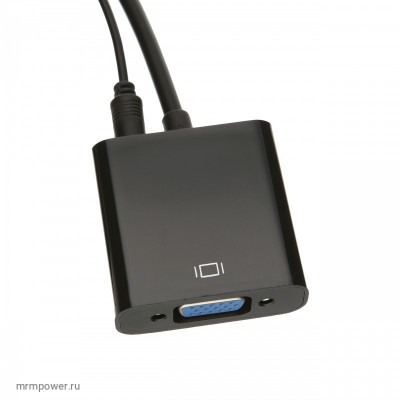 Адаптер HDMI to VGA (black)