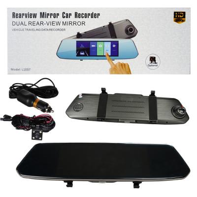 Авто-видеорегистратор зеркало L1007 7дюйм GPS + камера заднего вида (сенсоорный экран)