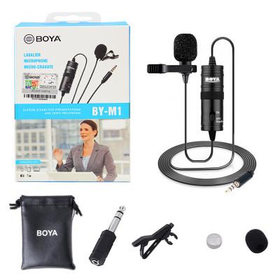 Петличный микрофон BOYA BY-M1 кабель 6м (black)