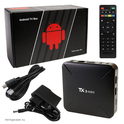 Андройд Приставка для ТВ TX 3 mini 1/8gb