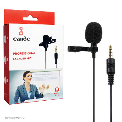 Микрофон Univus U1 Mic Cable 1.5m для камер и телефонов (black)