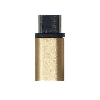 Переходник  Micro (F)  Type-C (M) METAL (без упаковки)