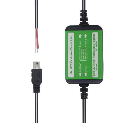 Автомобильное зарядное устройство для регистратора и навигатора LP3  V3 Mini  5V/2A=1A 3500mm T (прямой-штекер)