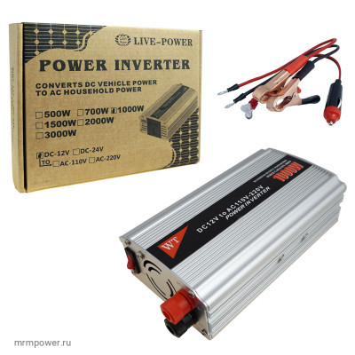 Автомобильный Инвертор 12V>>220V  1000W