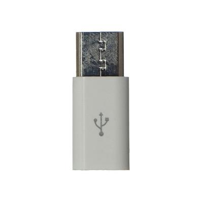 OTG переходник  Micro to Type-C PLASTIK (без упаковки)